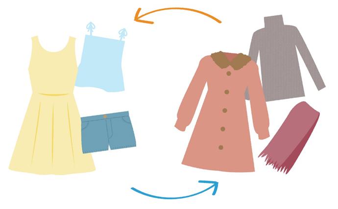 衣替えの時期と気温の目安や収納のコツについて