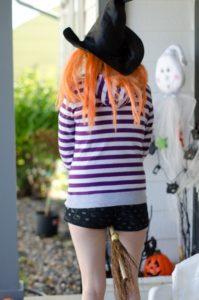 ハロウィン 魔女 衣装 手作り