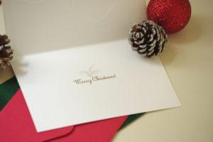 クリスマスカード手作りマスキングテープ