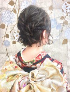成人式ショートヘア