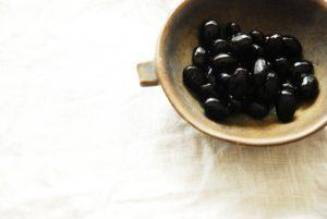 黒豆シワ固く