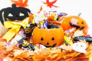 ハロウィン お菓子 交換