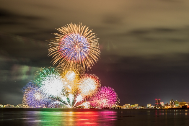 松江水郷祭湖上花火大会2018日程や行き方・穴場・屋台・駐車場について