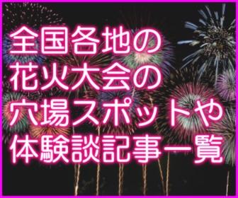 花火大会穴場・見どころ・体験談記事